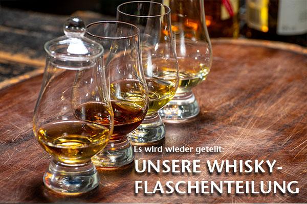 Unsere Whisky Flaschenteilung