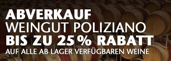 Poliziano im Abverkauf: bis zu 25% Rabatt
