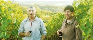 Philippe und Henry im Weinberg